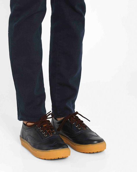 Wing-Cap Brogues By Knotty Derby ( Blueblack )
