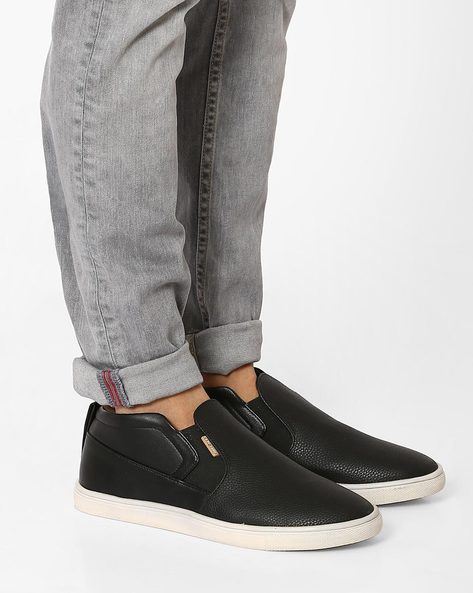 Textured Slip-on Casual Shoes By USPA ( Black )