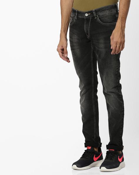 Mid-Wash Skinny Fit Jeans By SPYKAR ( Black )