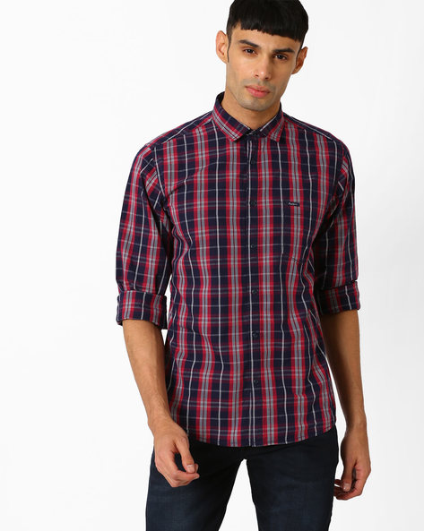 Checked Shirt With Chest Pocket By Pepe Jeans ( Red )