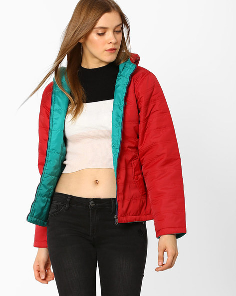 Quilted Hooded Jacket By DUKE ( Red )