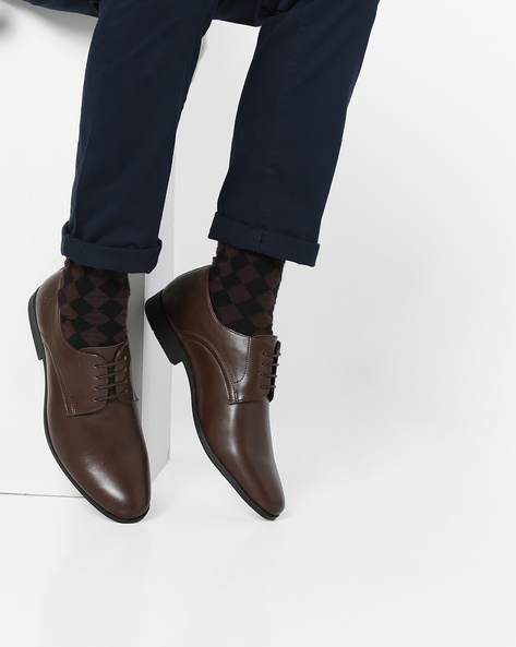 Lace-Up Derby Shoes By Bond Street By Red Tape ( Brown ) - 460131695001