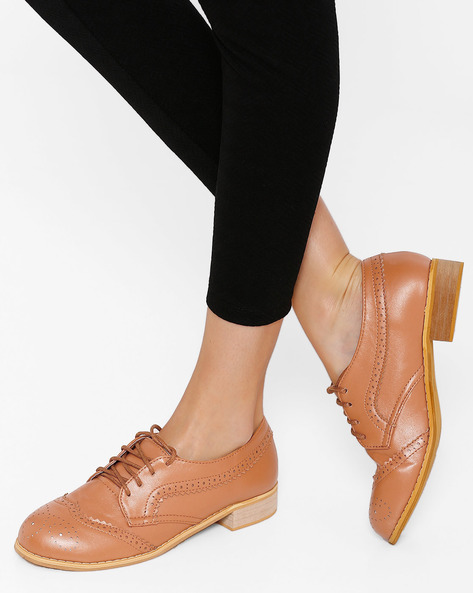 Full-Brogue Derby Shoes By My Foot ( Brown )