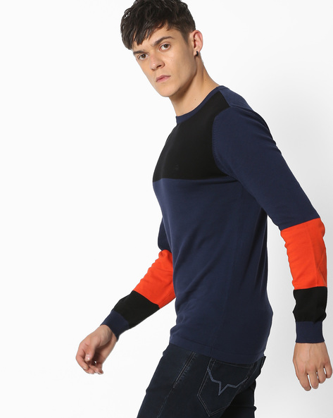 Colourblock Crew-Neck Sweater By UNITED COLORS OF BENETTON ( Multi )