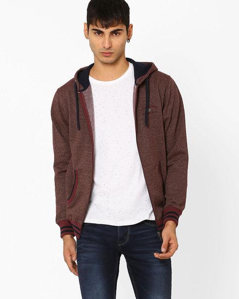 Regular Fit Hooded Sweatshirt By NETPLAY ( Khaki )