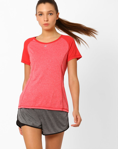QuickDry T-shirt With Short Sleeves By PERFORMAX ( Red )