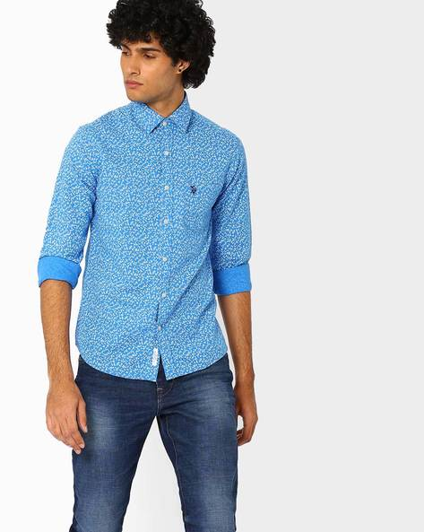 Regular Fit Printed Shirt With Patch Pocket By US POLO ( Assorted )