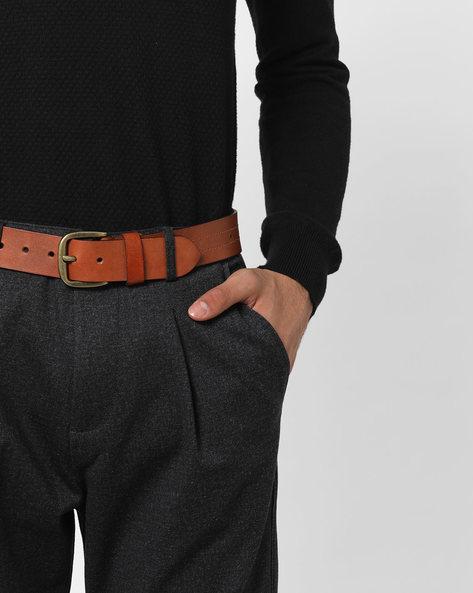 Genuine Leather Classic Formal Belt By AJIO ( Tan )