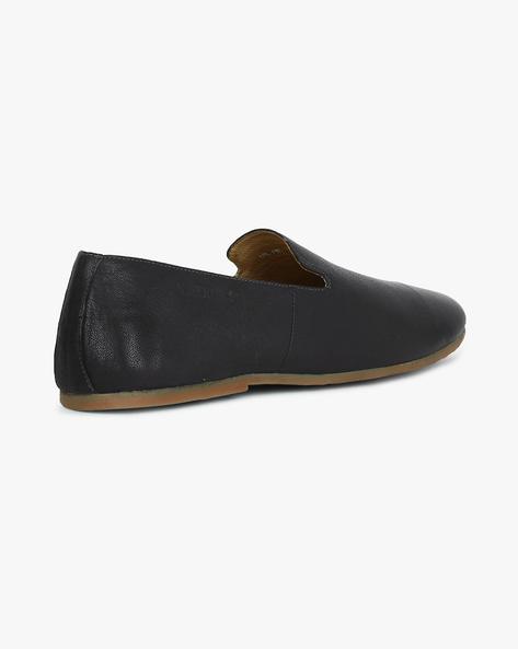Genuine Leather Slip-Ons By VALENTINO ( Grey )