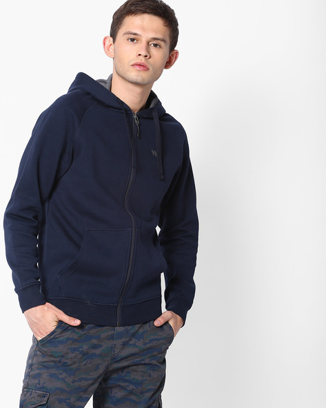 Zuci Hooded Sweatshirt With Front Zipper By Wildcraft ( Blue )