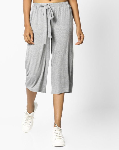 Culottes With Drawstring Waist By Project Eve WW Athleisure ( Greymelange )