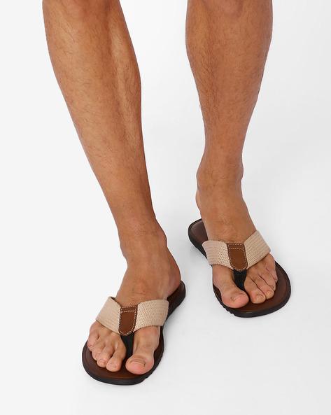 Flip-Flops With Braided Straps By USPA ( Beige )