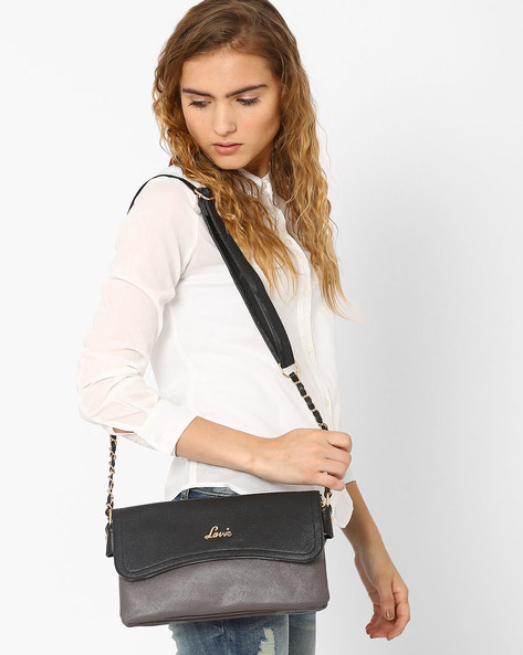Sling Bag With Adjustable Strap By Lavie ( Grey )