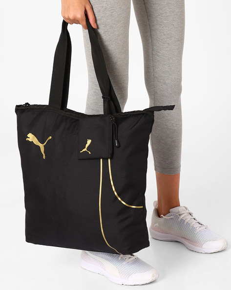 Fundamentals Shopper Tote Bag By Puma ( Black )