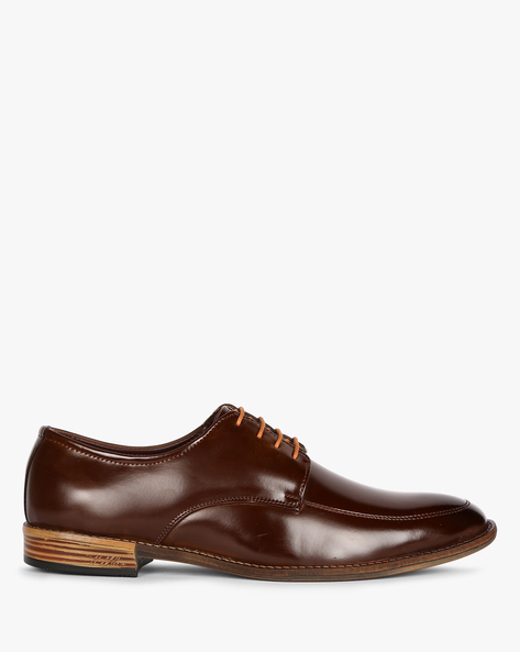 Panelled Derby Shoes By ESCARO ( Brown )