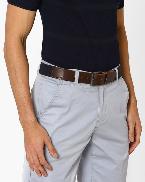Canvas Belt With Buckle Closure By LEVIS ( Blue )
