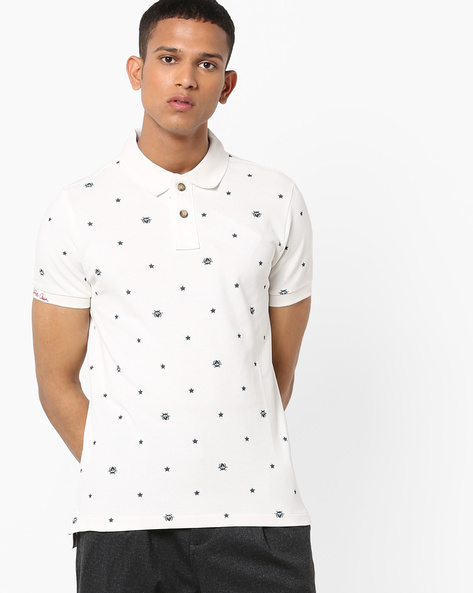 Printed Cotton Polo T-shirt By US POLO ( Assorted )