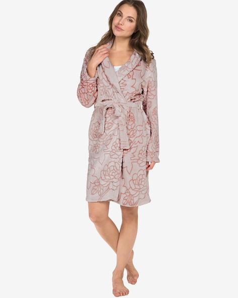 Night Robe With Detachable Waist Tie-Up By Hunkemoller ( Pnk )