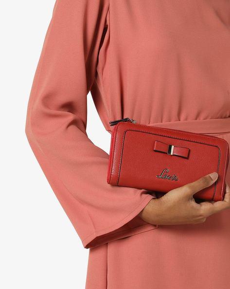 Papel Textured Zip-Around Wallet By Lavie ( Red ) - 460167344001