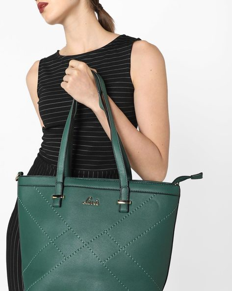 Larimar Tote Bag With Detachable Sling By Lavie ( Green )