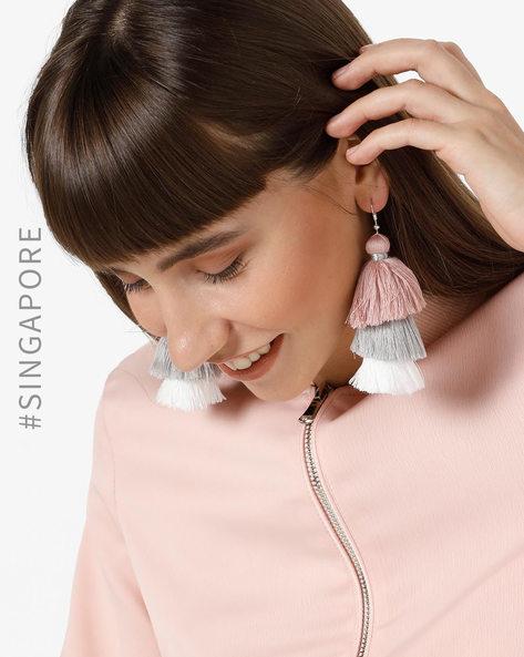 Tiered Tassel Drop-Earrings By MDS ( Multi )