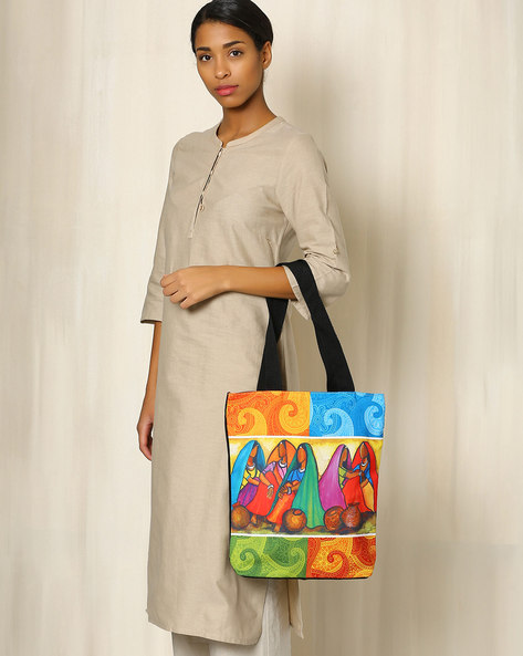 Digital Print Tote Bag By All Things Sundar ( Multi ) - 460040287001