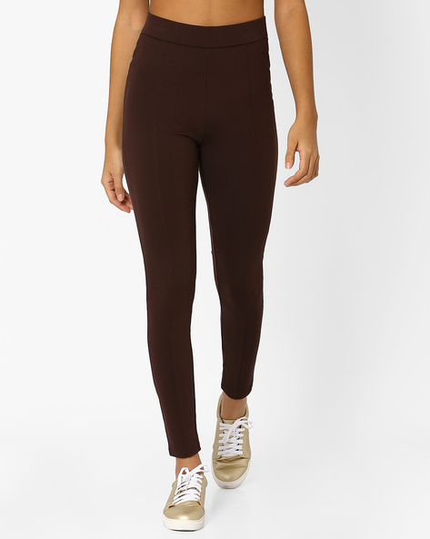 Panelled High-Rise Treggings By Marks & Spencer ( Coffeebrown )