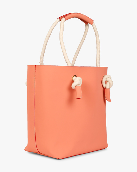 Tote Bag With Fabric Handles By Gusto ( Orange )