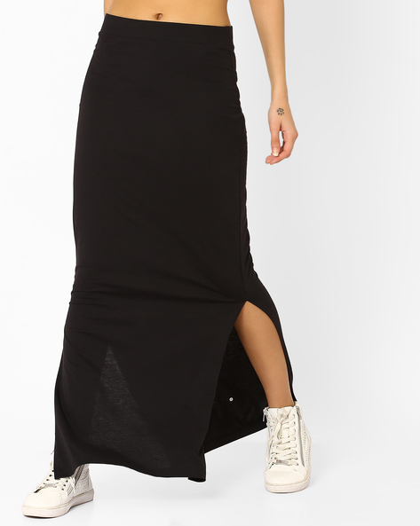 Maxi Skirt With Side Slits By Vero Moda ( Black )