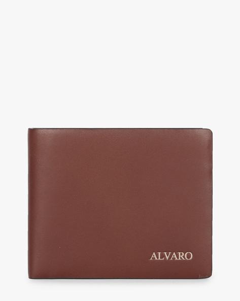 Genuine Leather Bi-Fold Wallet By ALVARO CASTAGNINO ( Brown )