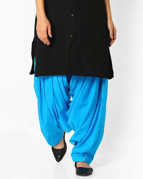 Cotton Patiala Pants By Stylenmart ( Turquoise )
