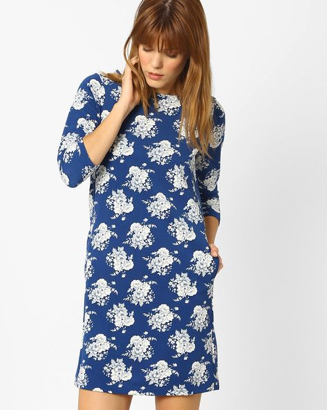 Sheath Dress With Floral Print By And ( Multi )