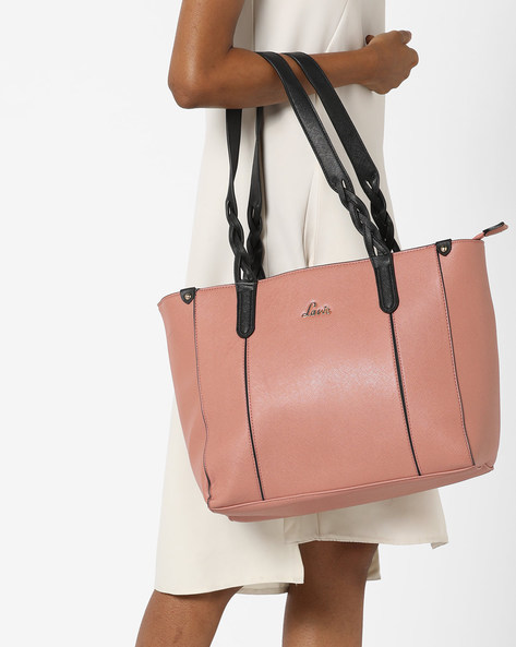 Tote Bag With Contrast Straps By Lavie ( Peach )