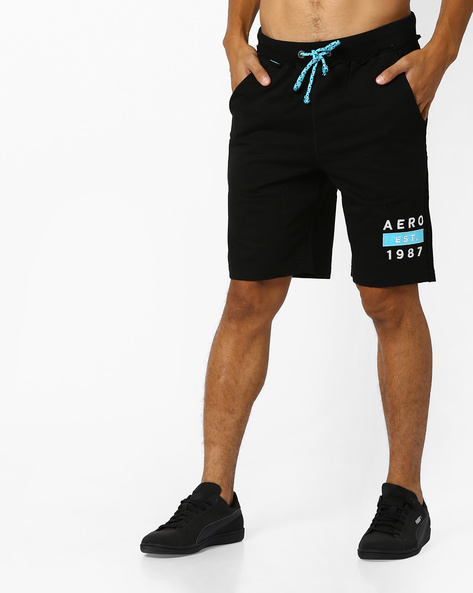 Mid-Rise Shorts With Drawstring Fastening By Aeropostale ( Black )