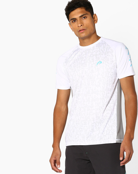 Crew-Neck T-shirt With Raglan Sleeves By PROLINE ( White )