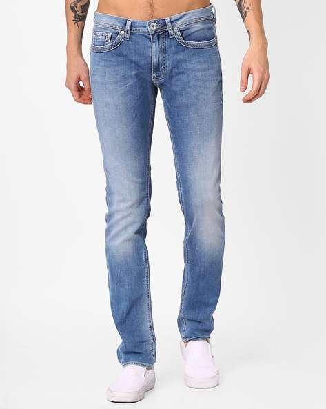 Slim Fit Low-Rise Jeans By GAS ( Wn23 )