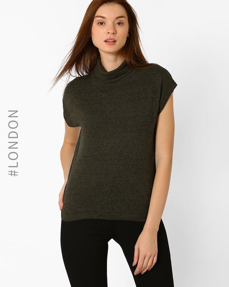 Roll-Neck Pullover By Marks & Spencer ( Khaki )