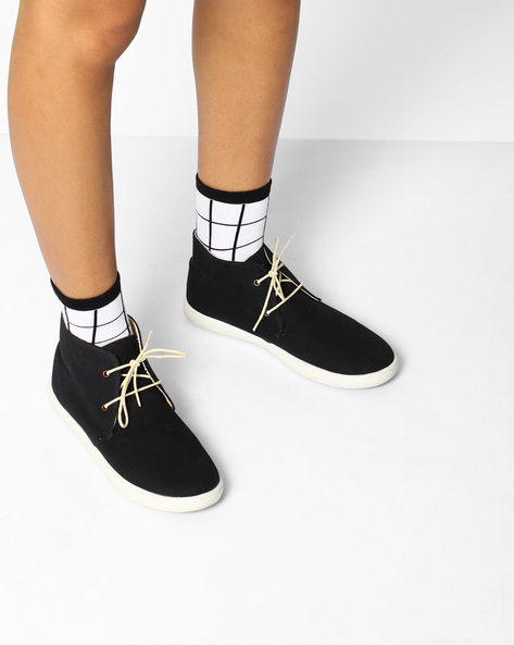 High-Top Casual Shoes By Carlton London ( Black )