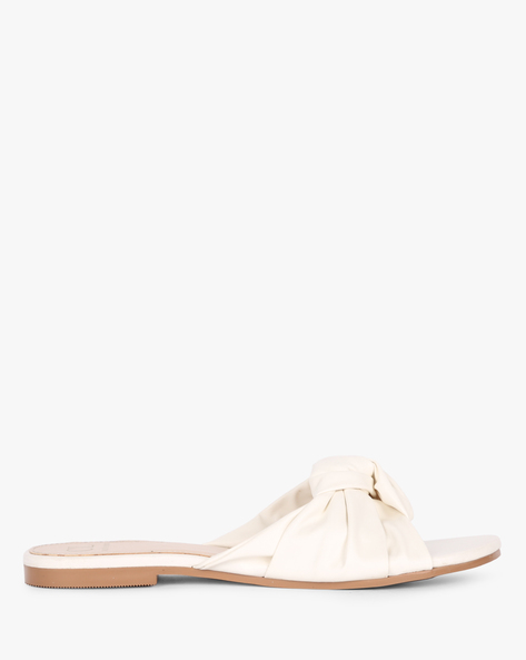 Flat Sandals With Knotted Upper By Carlton London ( White )