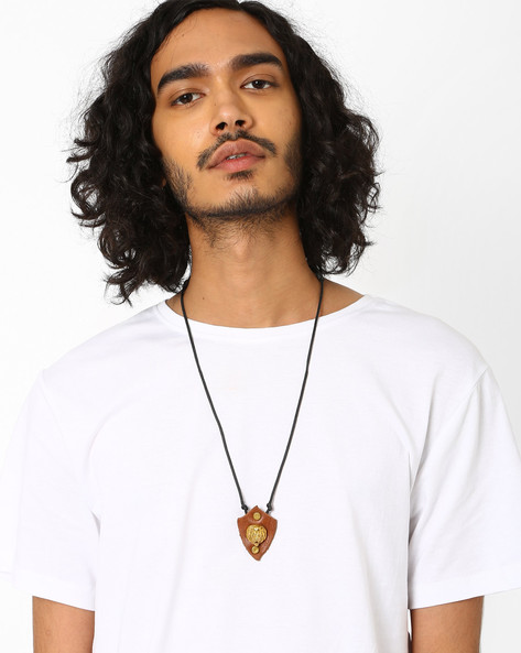 Lion Neckpiece With Slide Closure By Alto Vida ( Black )