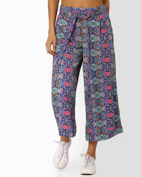 Printed Culottes With Tie-Up By Vajor ( Multicolour )