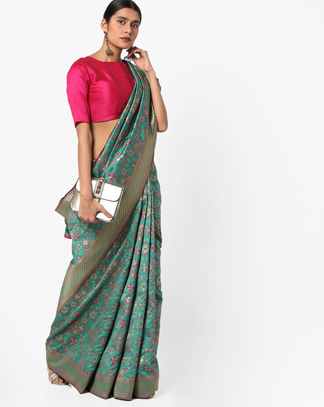 Patola Silk Saree With Zari Work By Viva N Diva ( Green )