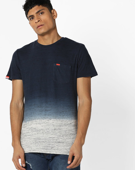Ombre-Dyed Crew-Neck T-shirt By SUPERDRY ( 98t )