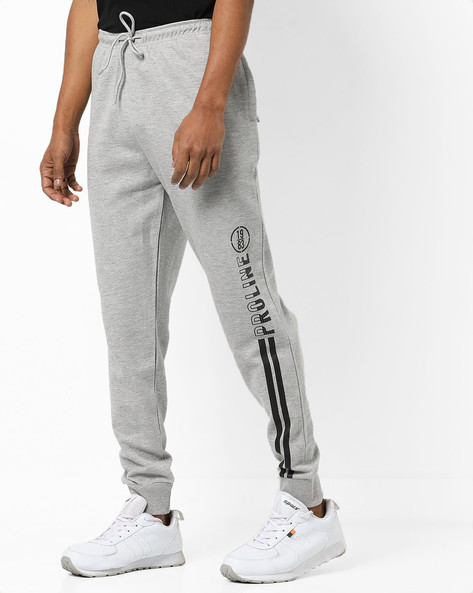 Mid-Rise Joggers With Drawstring Waist By PROLINE ( Greymelange )