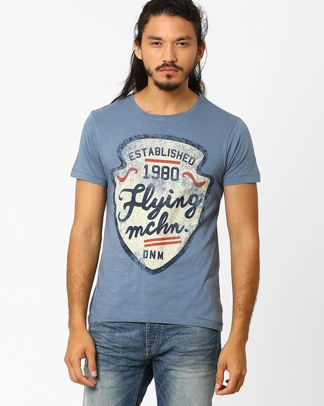 Graphic Print Cotton T-shirt By FLYING MACHINE ( Assorted ) - 440720374001