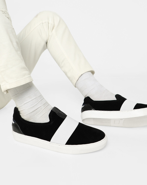 Slip-On Sneakers With Overlay By Funk ( Black )