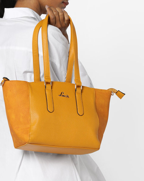 Solrad Textured Tote Bag By Lavie ( Yellow ) - 460167281001