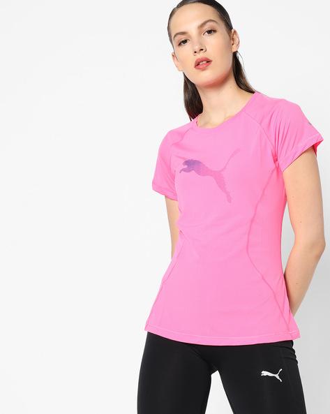 PUMA Cat Print T-shirt By Puma ( Pink )