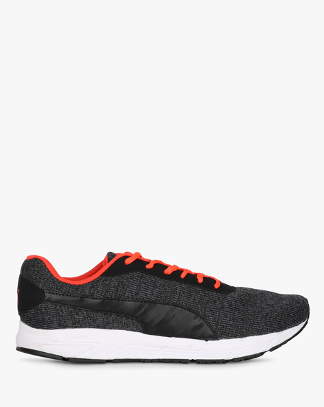 Valor Knit IDP Lace-Up Sports Shoes By Puma ( Black )