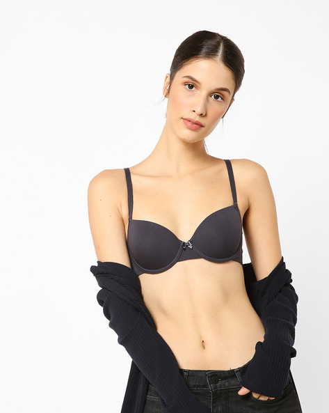 Underwired Balcony T-shirt Bra By Marks & Spencer ( Steel )